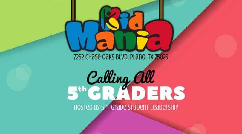 5th Grade Kids Mania Event