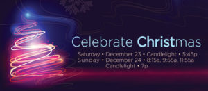 Christmas Weekend Services - Saturday